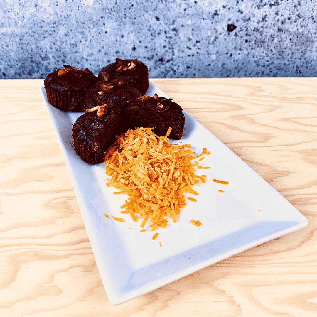 Commandez collation santé muffins betterave, zeste orange, sans lactose, sans gluten