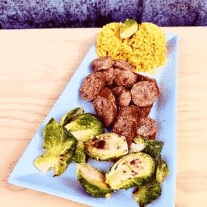 Commandez repas prêt à manger saucisse biologique à la mexicaine
