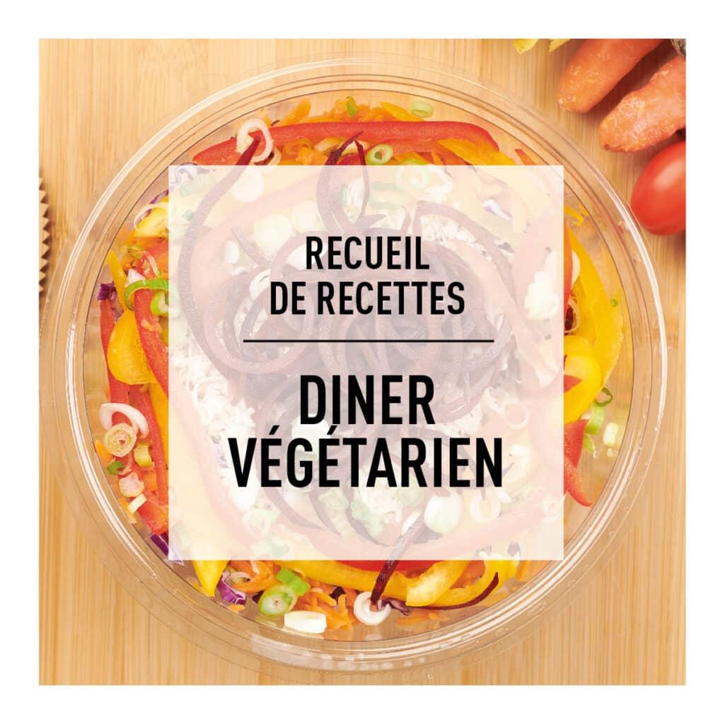 Recueil de recettes santé du dîner végétarien