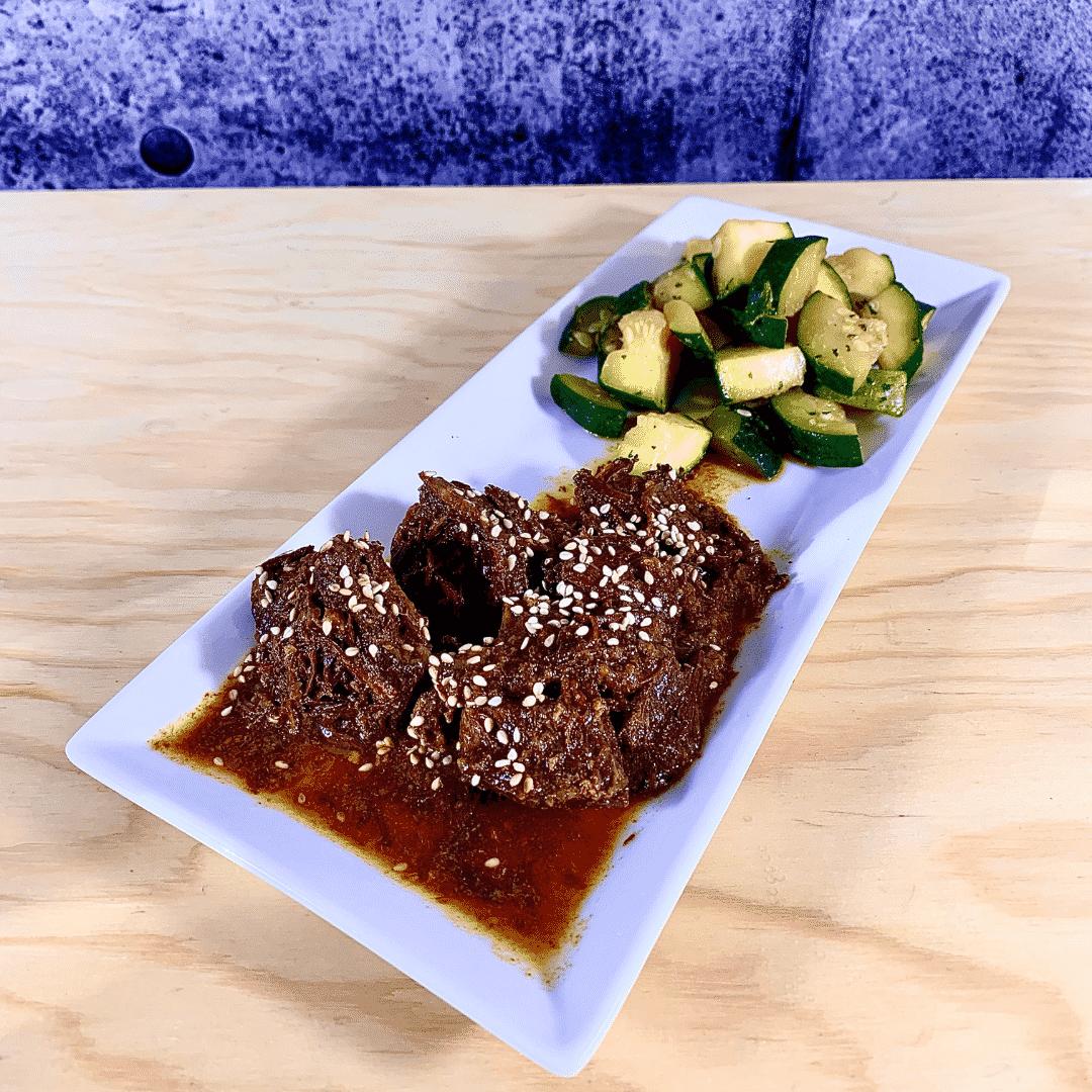 Commandez repas prêt à manger, bœuf biologique coréen