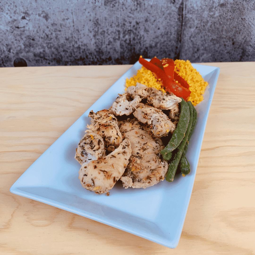 Commandez repas santé prêt à manger poulet biologique au citron