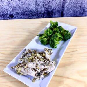Commandez repas prêt à manger, poulet biologique aux herbes et citron