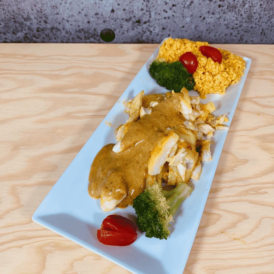 Commandez repas santé prêt à manger morue au fenouil