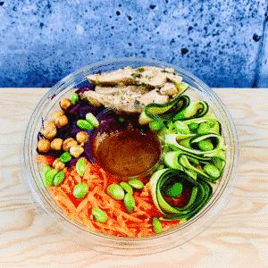 Commandez salade-repas santé prêt à manger poke bowl asiatique