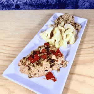 Commandez repas prêt à manger, saumon pesto