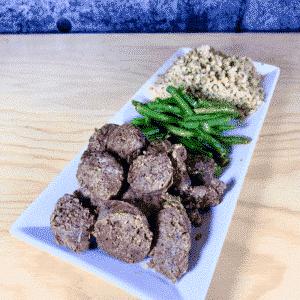 Commandez repas prêt à manger, saucisse biologique chimichurri
