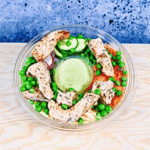 Commander salade-repas prêt à manger poke bowl norvégien