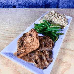 Commandez repas prêt à manger, saumon au miel