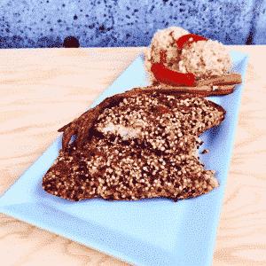 Commandez repas prêt à manger, morue en croûte, sans gluten