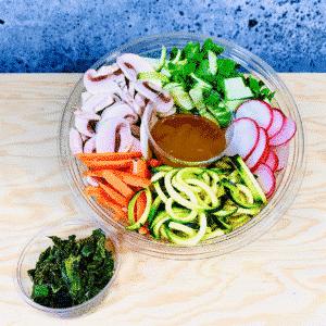 Commandez salade-repas prêt à manger, légumes mixtes et algues