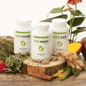 Commandez suppléments axés sur la santé digestive, l'intestin, l'élimination, Vita-Flore en capsules