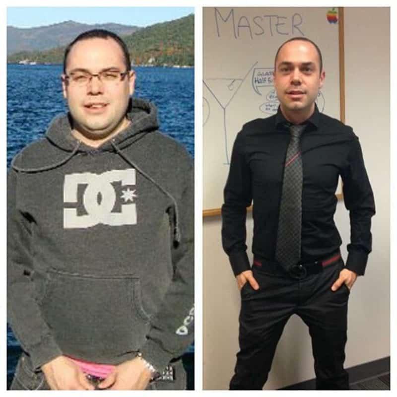 Photo avant-après coaching perte de poids