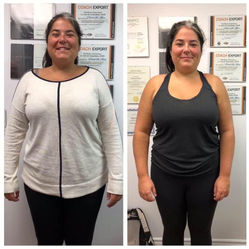 Photo avant-après, coaching perte de poids