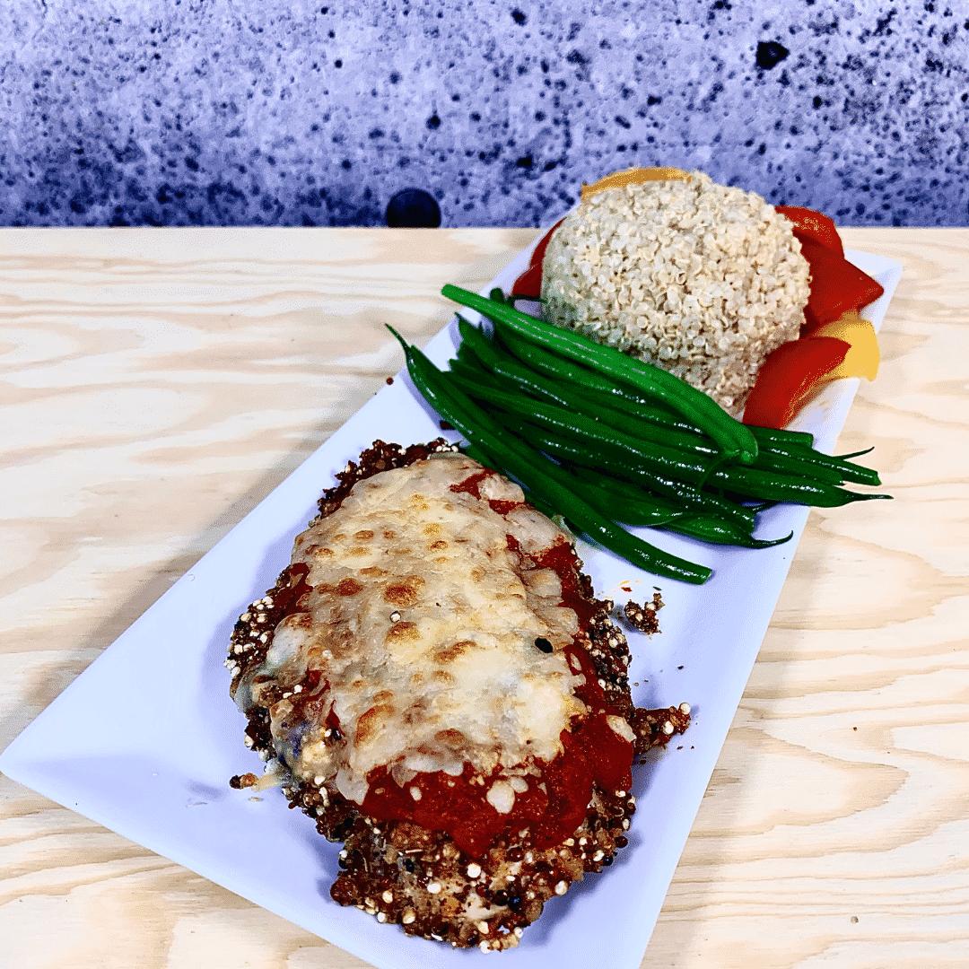 Commandez repas prêt à manger poulet biologique parmigiana