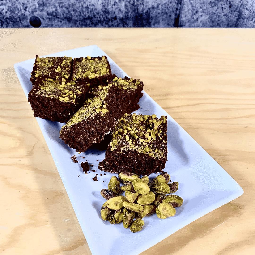 Commandez collation santé brownies Pistaches, sans lactose, sans gluten