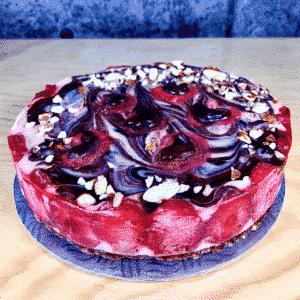 Dessert santé gâteau végétalien, sans lactose, sans gluten