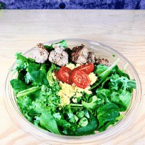 Commandez salade-repas prêt à manger aux porc et veau biologique