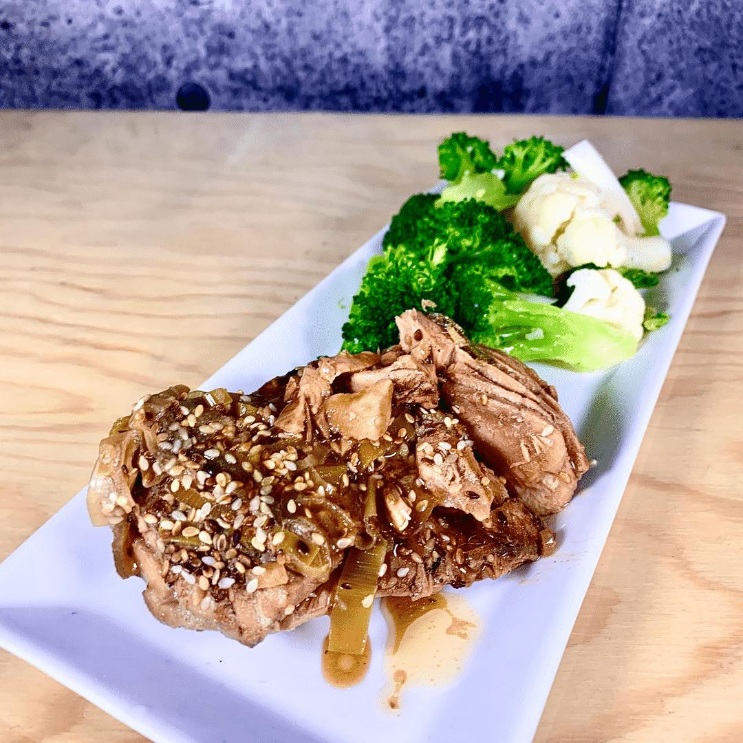 Commandez repas prêt à manger saumon style asiatique