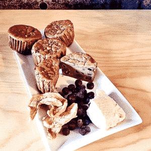 Commandez collation santé muffins au tofu, sans lactose, sans gluten