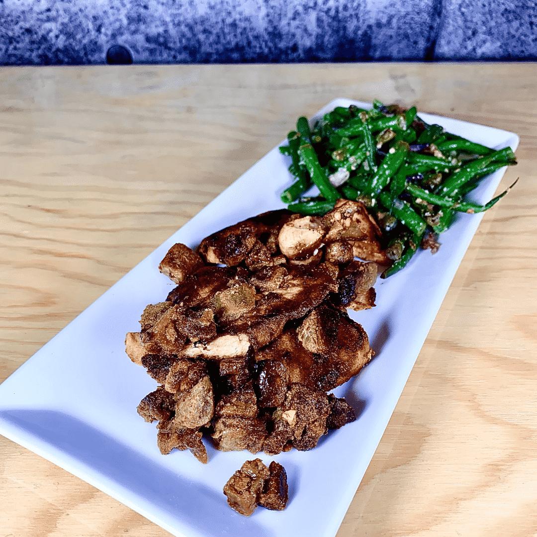 Commandez repas santé prêt à manger, saumon aubergine, miso