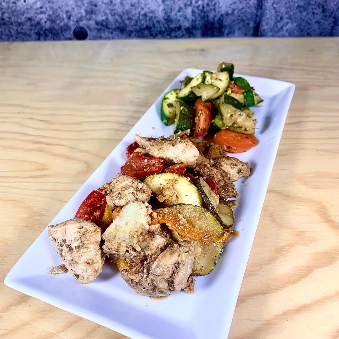 repas protéiné santé pret à manger poulet style italien